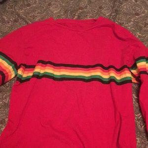 Rainbow print long sleeve shirt